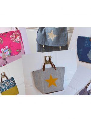 Bleu Souris catégorie cabas sacs besaces totes bag présentés à la vente